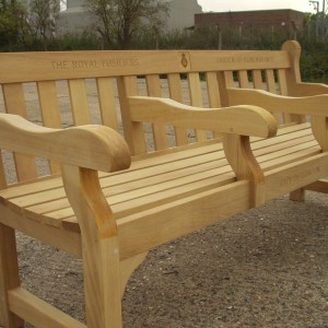 Royal Fusiliers bench