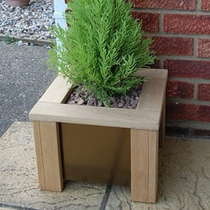 Hardwood-and-Stainless-Steel-Planters