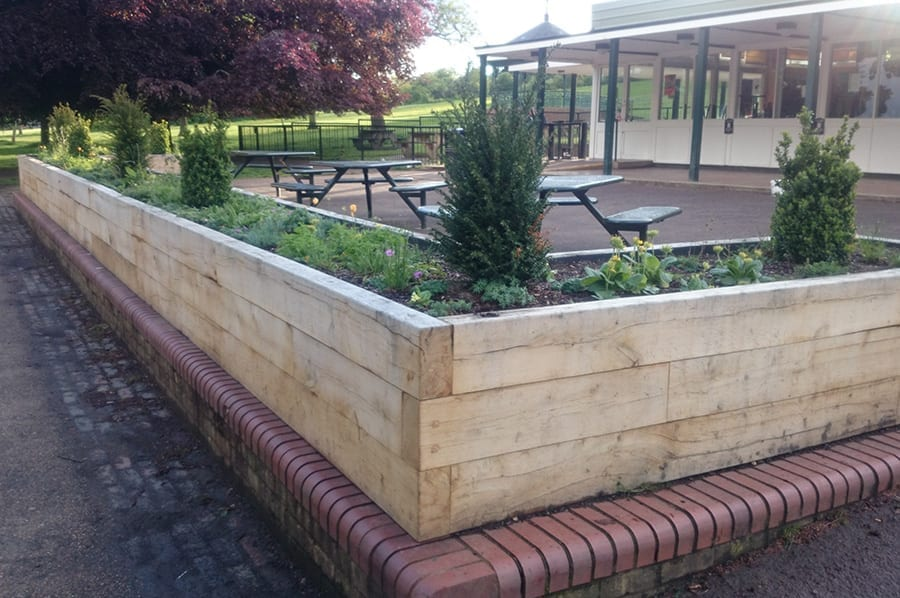 Oak Sleeper Planters | Branson Leisure